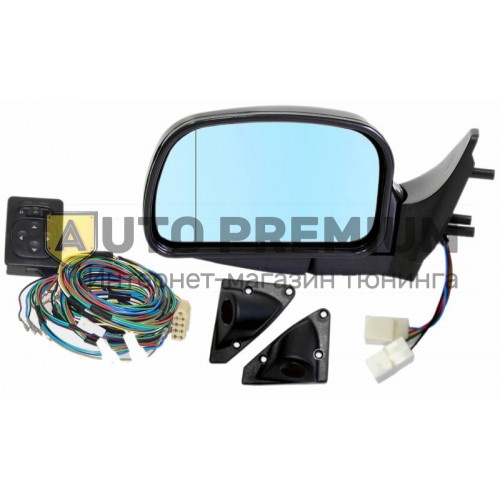 Комплект боковых зеркала с эл.приводом и обогревом, антибликовые для ВАЗ 2108, 2109