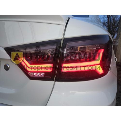 Светодиодные LED тюнинг фонари Лада Веста (серые)